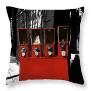 Red Candy Throw Pillow