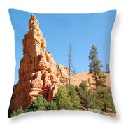 Red Canyon 2 Throw Pillow