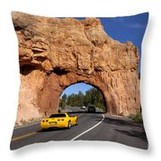 Red Canyon Near Bryce Canyon In Utah Throw Pillow