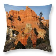 Red Canyon - Scenic Byway 12 Throw Pillow