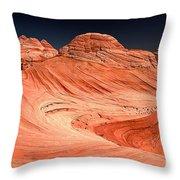 Red Canyon Swirls Throw Pillow