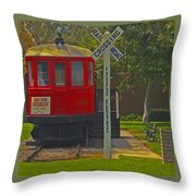 Red Car Museum In Seal Beach Ca Throw Pillow