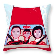 Red Car Throw Pillow
