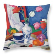 Red Chair And Tulips, C.1919 Throw Pillow