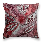 Red Chakra Throw Pillow