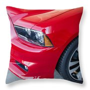 Red Charger 1508 Throw Pillow