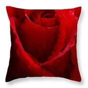 Red Charmer Throw Pillow