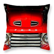 Red Cheeks Ford Throw Pillow