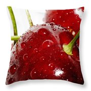 Red Cherry Throw Pillow