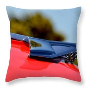 Red Chevy Hood Throw Pillow