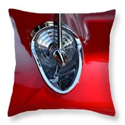 Red Chevy Hood Ornement Throw Pillow