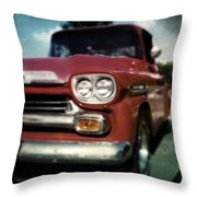Red Chevy Pickup Throw Pillow