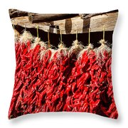 Red Chili Ristras Throw Pillow