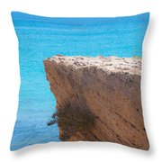 Red Cliff And Regatta In The Blue Throw Pillow