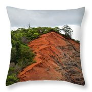 Red Cliff At Waimea Throw Pillow