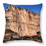 Red Cliffs Blue Sky Throw Pillow