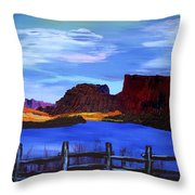 Red Cliffs On The Colorado Throw Pillow