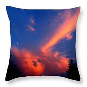 Red Clouds In The Evening Throw Pillow