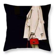 Red Clutch Throw Pillow
