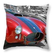 Red Cobra Throw Pillow