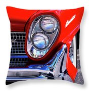 Red Hot Continental Palm Springs Throw Pillow