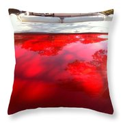 Red Convertible Throw Pillow