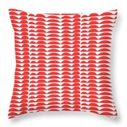 Red Cut Outs- Abstract Pattern Art Throw Pillow