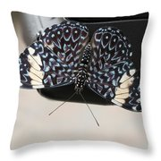 Red Cracker Butterfly Throw Pillow