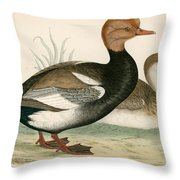 Red Crested Whistling Duck Throw Pillow