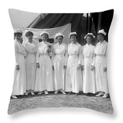 Red Cross Nurses, 1916 Throw Pillow