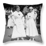 Red Cross Parade, 1918 Throw Pillow