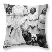 Red Cross Parade, 1920 Throw Pillow