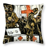 Red Cross Poster, 1915 Throw Pillow