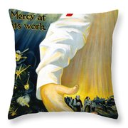 Red Cross Poster, 1918 Throw Pillow