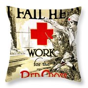 Red Cross Poster, C1918 Throw Pillow