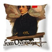 Red Cross Poster, C1919 Throw Pillow