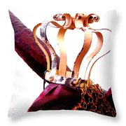 Red Crow Throw Pillow