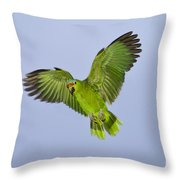 Red-crowned Parrot Throw Pillow