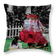 Red Dancing Throw Pillow