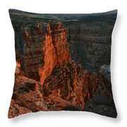Red Dawn Breaking On Spires In Grand Canyon National Park Vertical Throw Pillow