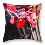 Red Decorations Throw Pillow