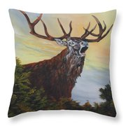Red Deer - Stag Throw Pillow
