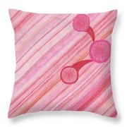 Red Delight Lines Throw Pillow
