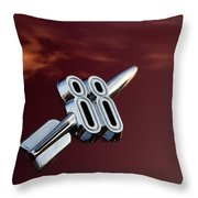 Red Delta 88 Rocket Throw Pillow