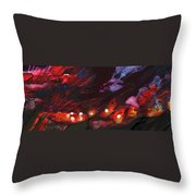 Red Demon With Pearls Throw Pillow