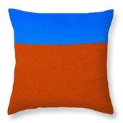 Red Desert Blue Sky Throw Pillow