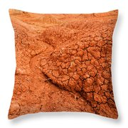 Red Desert Column Throw Pillow