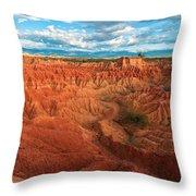 Red Desert Landscape Throw Pillow