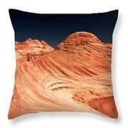 Red Desert Swirls Throw Pillow