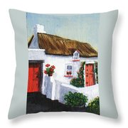 Red Door Cottage Like Maggies Throw Pillow